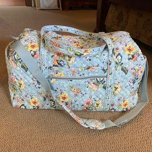 Vera Bradley bandolier travel duffel bag